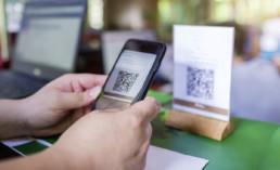 Scannen eines QR-Codes mit einem Handy